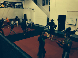 Muay Thai class at the Academy of Combat Arts